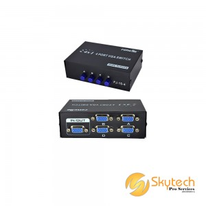 RTS 4-port VGA Manual Switcher (VGA-15-4)
