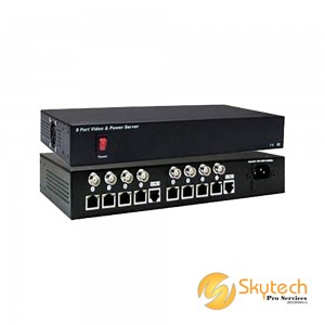 8ch Passive Video Receiver & 12VDC Power Hub (Need to use with VPS1001T) (VPS1008)