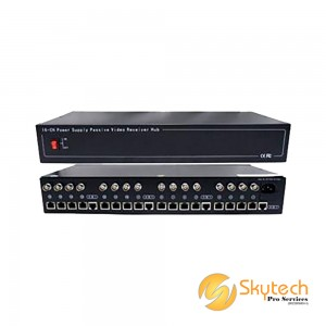 16ch Passive Video Receiver & 12VDC Power Hub (Need to use with VPS1001T) (VPS1016)