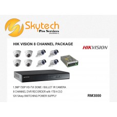 HIK-VISION 8 CHANNEL PACKAGE