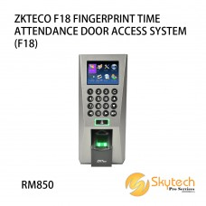 ZKTECO F18 FINGERPRINT TIME ATTENDANCE DOOR ACCESS SYSTEM (F18)