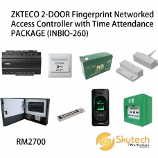 ZKTECO 2-DOOR Fingerprint Networked Access Controller with Time Attendance PACKAGE (INBIO-260)